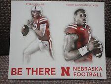 Tommy Armstrong Ryker Fyfe Nebraska Quarterback 2016 Husker Schedule Card Riley