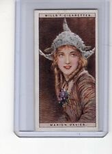 Wills Cigarettes 1928 Cinema Stars Series 1 #9 Marion Davies Exmt+ Tobacco Card