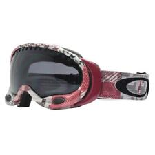 Oakley 57-390 A FRAME Buffalo Plaid Crimson w/ Dark Grey Snow Ski Goggles .