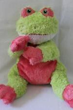 """TY 2001 Tysilk Soft Stuffed FROG Rattle Baby Plush/Toy 12"""" (Z12)"""