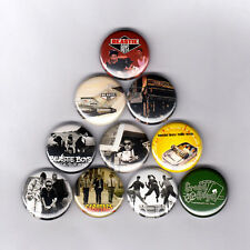 """BEASTIE BOYS 1"""" PINS / BUTTONS (licensed to ill pauls boutique communication lp)"""