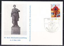 Germany DDR 1978 Philatelic Meeting Alexander Matrosov monument WW2 Halle