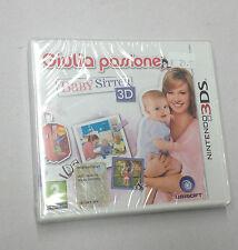 GIULIA PASSIONE BABY SITTER 3D  NINTENDO 3DS NUOVO SIGILLATO