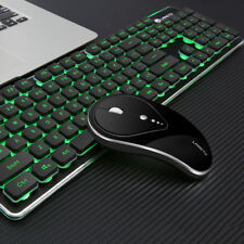 2.4G Wireless Backlit Silent Keyboard and Mouse Combo for Laptop, Computer & Mac