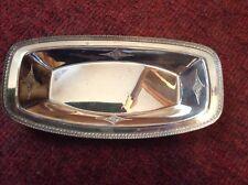 """Antique Homan Plate silverplate on nickel silver WM Mounts  bread rolls tray 12"""""""