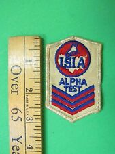 ISIA Alpha Test Patch