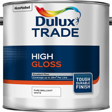 2.5L Dulux Trade High Gloss Pure Brilliant White