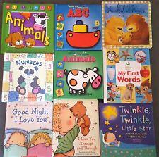 Lot of 9 Baby Toddler Padded Board Books Storytime Bedtime Children's Books