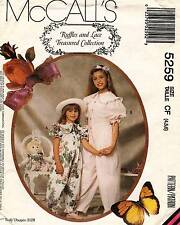 McCall's Children's Jumpsuit and Doll's Clothes Pattern 5259 Size 4-5-6 UNCUT