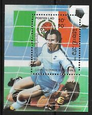 STAMPS-LAOS. 1985. World Cup Football-Mexico Miniature Sheet. SG: MS806. MNH