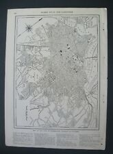 1906 Original Antique Map of City of Washington,District of Columbia