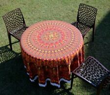 Indian wall hanging mandala round cotton handmade beach blanket boho table cover