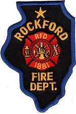Rockford Fire Department Illinois Firefighter Patch NEW
