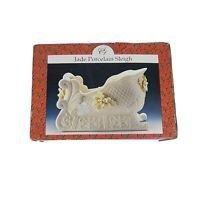 Vintage Jade Porcelain Sleigh Artmark Christmas 1999 Collection