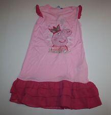New Peppa Pig Gown Pajamas Size 5 6 116 cm Princess peppa Pink PJs