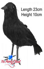 23 cm lifesized piumato RAVEN CROW Bird festa di Halloween decorazione Prop BA702