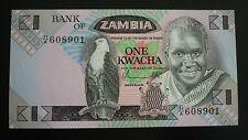 New listing Zambia One Kwachia Banknote - 1976/81 - Crisp Uncirculated