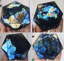 237g Natural Labradorite Crystal Rough Point Rock Polished Madagascar (C2)
