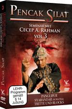 Pencak Silat Seminar mit Cecep A. Rahman Vol.3DVD Panglipur Syabandar Tritte ...