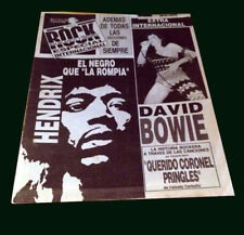 David Bowie - Jimmy Hendrix - Rock Magazine b/w # 18 - Argentina