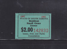 State Hunting/Fishing Revenues - SD - 1967 Small Game Res. ($2) - MNH (Gothic #)