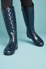 Women's Hunter Original Refined High Gloss Quilted Waterproof Rain Boot Size 8