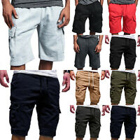 a8176db6e03d Mens Cargo Shorts with Elastic Waist Short GYM Workout Pants Summer Multi  Pocket