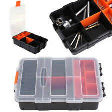"""8.6""""x6"""" Plastic Tool Boxes Storage Case Small Nuts Bolts Screws Parts Organizer"""