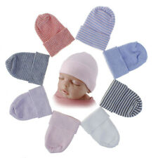 Newborn Baby Infant Soft Striped Knitted Cap Outdoor Winter Beanie Hospital Hat