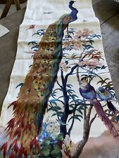 """NWT WILLIAMS SONOMA PAVAO PEACOCK TABLE RUNNER 16 """"X 108"""" Made In Italy"""