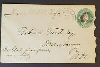 1880's St Albans & Boston RPO to Danbury New Hampshire Fancy Cancel Train Cover