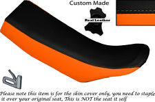 BLACK & ORANGE CUSTOM FITS KTM GS 600 LC4 DUAL LEATHER SEAT COVER ONLY
