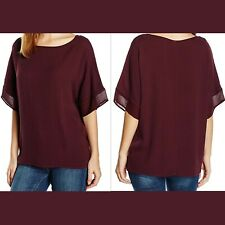 BNWT NEW GHOST AUBERGINE HERITAGE ENID TOP / BLOUSE SIZE UK S SMALL RRP £49