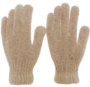 Women's Soft and Stretchy Chenille Basic Winter Magic Gloves