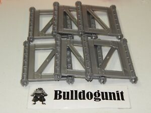 Hot Wheels Trio Super Stunt Builder All 6 Gray Support Wall Parts Only