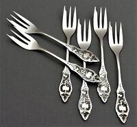 Ostfriesen HTB Hanseatische 6 Kuchengabeln 800er Silber Besteck (78)
