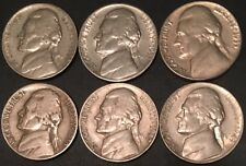 1938-P 1939-S 1942-D 1949-S 1950-P 1951-S   JEFFERSON NICKELS FAST SHIPPING!WVM