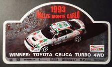 Aufkleber Rallye Monte Carlo 1993 TOYOTA CASTROL WRC TTE Celica Turbo Sticker