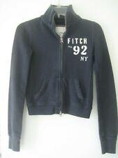 Abercrombie & Fitch Ladies Navy Blue Long Sleeve  Zip Front Jacket Sz XS