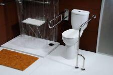 Behinderten-WC barrierefrei erhöht Stand-WC behindertengerecht Toilette WC-Sitz