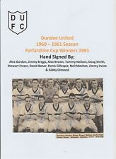 DUNDEE UNITED 1960-1961 SEASON RARE ORIG FULLY HAND SIGNED TEAM GROUP 11 X SIGS