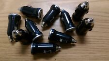 Lot of 10: USB 1 Amp DC Car Charger Adapter Accessory Plug for Cell Phones