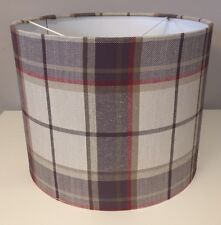 Laura Ashley Highland Check Lampshade Handmade In Grape Purple 30cm Tartan