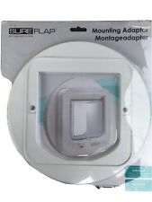 SureFlap Cat Flap Mounting Adaptor, White Compatible With Microchip Cat Flap