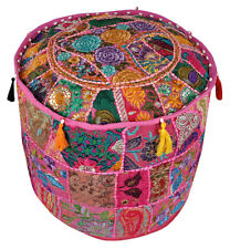 Indian Handmade Ottoman Pouf Cover Vintage Ottoman Pouf Foot Stool Pouffe Cover