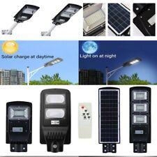 Lampione Stradale Faro LED Pannello Solare Telecomando Fotovoltaico 60 90 120W