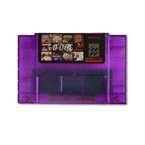 US SELLER 110 in 1 NINTENDO SNES Games Flash Cartridge 16 Bit Multicart NTSC