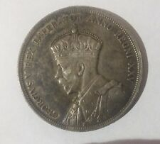 Canada 1935 Large Silver $1-George V Voyager-Indian/Canoe-Nice