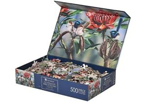 Blue Wren Jigsaw Puzzle 500 Piece Australian Flowers  Birds Adult Kids Toys