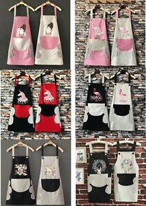WOMEN LADY CUSTOM APRON WITH POCKET CHEFS BUTCHERS KITCHEN COOKING CRAFT BAKING